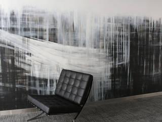 ściana w biurze: styl , w kategorii  zaprojektowany przez Artystyczne Malowanie Ścian