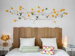 Betula (Ciel de lit) par Millie Baudequin Créations textiles Scandinave