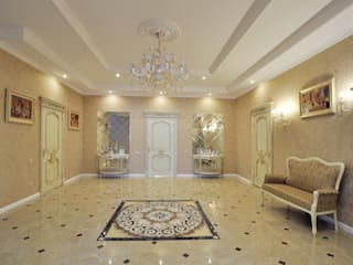 Classic style corridor, hallway and stairs by Tutto design Classic