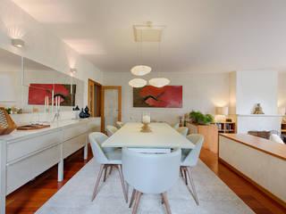 Casa em Leça da Palmeira: Salas de jantar  por SHI Studio, Sheila Moura Azevedo Interior Design,Eclético
