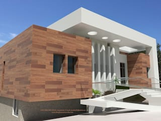 J44 Casas de estilo mediterráneo de Arquitectura Mediterránea. Mediterranean Passivhaus Concept. 653773806 . Mediterráneo
