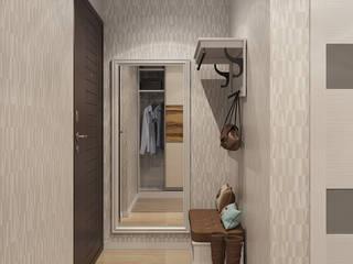Визуализации проекта для семьи в Тюмени Коридор, прихожая и лестница в эклектичном стиле от Alyona Musina Эклектичный