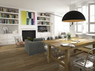 Kobiecy apartament Eklektyczna jadalnia od Krystyna Regulska Architektura Wnętrz Eklektyczny