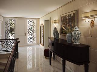 Вилла в Каннах Коридор, прихожая и лестница в классическом стиле от Архитектурное бюро Бахарев и Партнеры Классический