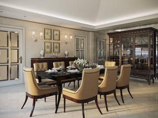 Вилла в Каннах Столовая комната в классическом стиле от Архитектурное бюро Бахарев и Партнеры Классический