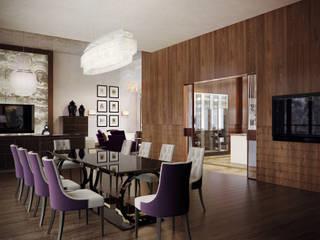 Загородный дом в Переделкино Гостиная в стиле модерн от Архитектурное бюро Бахарев и Партнеры Модерн