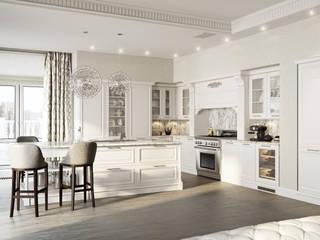 Квартира в Минске Кухня в стиле модерн от Архитектурное бюро Бахарев и Партнеры Модерн
