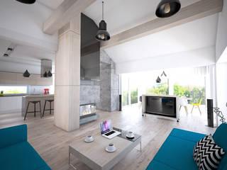 D180: styl , w kategorii Salon zaprojektowany przez PT-Wnętrza Pracownia Projektowa ,