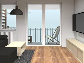projekt wnętrz, mieszkania dla audiofila easy project Nowoczesny salon