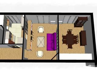 Mission conseil rénovation cuisine et réaménagement salon: Salon de style de style Moderne par Virginie Barnaba Architecture