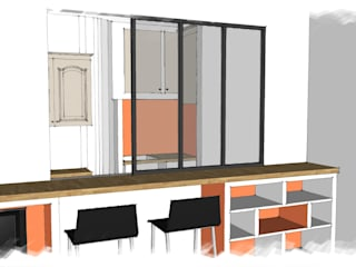 Mission conseil rénovation cuisine et réaménagement salon: Cuisine de style de style Moderne par Virginie Barnaba Architecture