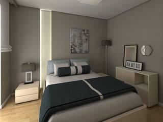 projekt wnętrz domu jednorodzinnego q193 easy project Nowoczesna sypialnia