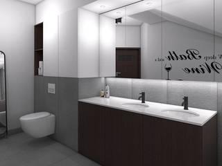 projekt wnętrza łazienki easy project Minimalistyczna łazienka