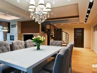 projekt wnętrz domu jednorodzinnego - zdjęcie: styl , w kategorii Jadalnia zaprojektowany przez easy project