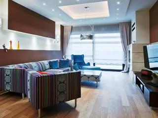 projekt wnętrz domu jednorodzinnego - zdjęcie: styl , w kategorii Salon zaprojektowany przez easy project