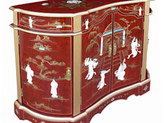 Red Lacquer Mother of Pearl Furniture ~ Ornately Decorated with Gold Leaf de Asia Dragon Furniture from London Asiático