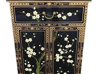Black Lacquer Chinese Furniture ~ Exquisite Cherry Blossom Designs de Asia Dragon Furniture from London Asiático