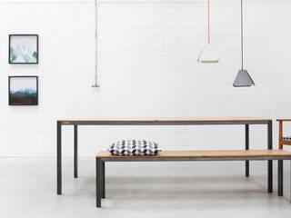Esstisch CARL - Loftfeeling für Dein Zuhause.: industriell  von Goldau & Noelle Möbelmanufaktur,Industrial