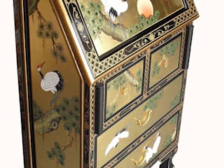 Black Lacquer Gold Leaf Furniture ~ Chinese and European Styles de Asia Dragon Furniture from London Asiático