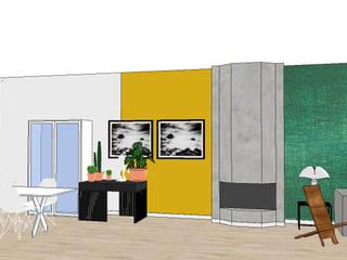 Styling woonkamer 2onder1kap woning Heemstede, industrieel met frisse kleuren. Industriële eetkamers van Studio Mind Industrieel