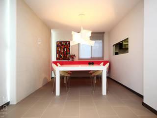 Gemmalo arquitectura interior Modern dining room Tiles White