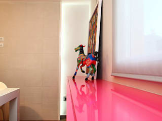 Gemmalo arquitectura interior ห้องทานข้าว แผ่น MDF Pink