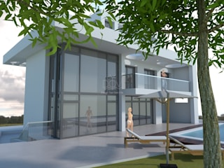 BOBI Casas de estilo mediterráneo de DYOV STUDIO Arquitectura. Concepto Passivhaus Mediterráneo. 653773806 Mediterráneo