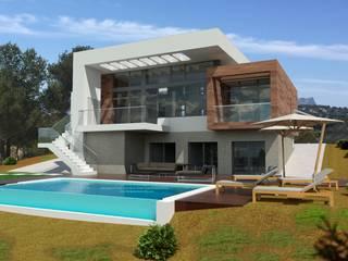 J44: Casas de estilo  de Estudio de Arquitectura, Interiorismo, Decoración y Urbanismo