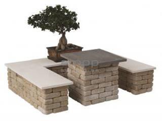 Sugestões Tosco Jardins modernos por Amop Moderno