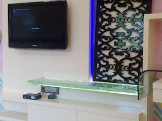 Television Panel With Moroccan Fret Work Panel:   by Artinsive Interiors Pvt Ltd