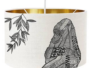 Animal drum lampshades - custom colours: modern  by bymarie, Modern