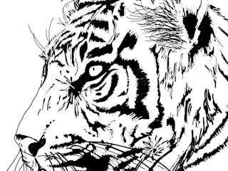 Tiger line drawing:   by bymarie