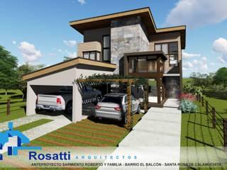 Vivienda SECCATORI - 230m2 - 2 dormitorios - Barrio el Balcón - Santa Rosa de Calamuchita: Casas de estilo  por ROSATTI ARQUITECTOS