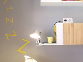 La mesita de la habitación de Helena: Dormitorios infantiles de estilo escandinavo de ALBERT SALVIA dissenyador d'interiors