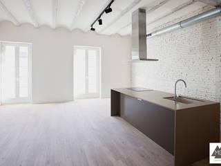 Reforma vivienda Ruzafa: Cocinas de estilo  de MDF CONSTRUCCION