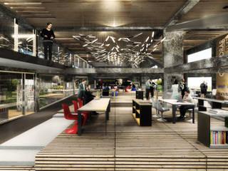Proyecto de Título Enzo Vergara / No estacionar ! re-imaginando infraestructuras de movilidad urbana - el caso de los edificios de estacionamientos de NB Render Arquitectura