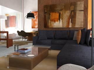 Atmosferas | Projecto de Interiores Paula Gouveia: Salas de estar  por  IDesign.art by Paula Gouveia,Industrial