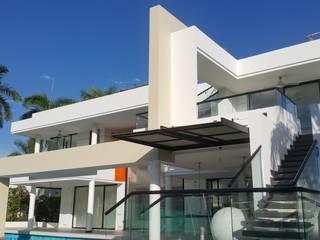 Perspectiva fachada posterior.: Casas de estilo  por Camilo Pulido Arquitectos