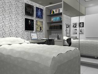 Dormitorios de estilo  por ROSANA MEIRELLES - Arquitetura e Decoração , Moderno