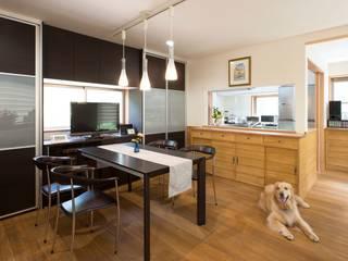 犬にやさしいフローリング オリジナルな 家 の 西大路建築設計室 オリジナル