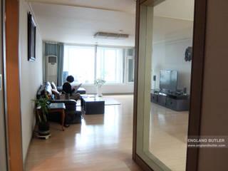 분당 K House (Bundang K House) モダンスタイルの 玄関&廊下&階段 の 잉글랜드버틀러 モダン