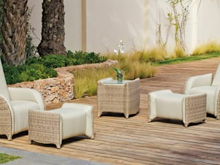 Hevea Garden Furniture مصنوعی Beige