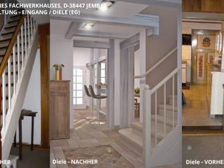 Fachwerkhaus Jembke - Eingang / Diele:   von GID│GOLDMANN - Innenarchitekt in Sehnde