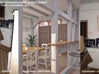 Fachwerkhaus Jembke - Esszimmer:   von GID│GOLDMANN - Innenarchitekt in Sehnde