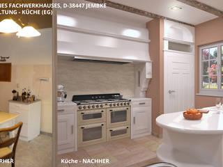 Fachwerkhaus Jembke - Küche:   von GID│GOLDMANN - Innenarchitekt in Sehnde