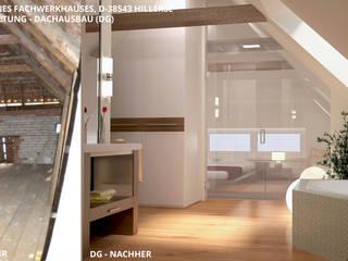 Fachwerkhaus Hillerse - Dachgeschoss (DG):   von GID│GOLDMANN - Innenarchitekt in Sehnde