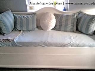 Bett mit Unterbett: rustikale Wohnzimmer von Massiv aus Holz