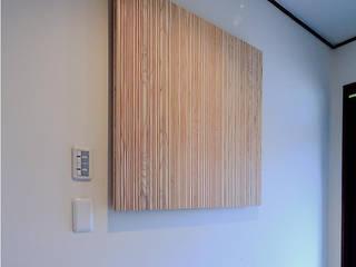 studio m+ by masato fujii Asian style corridor, hallway & stairs