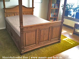 Massiv aus Holz BedroomBeds & headboards Wood Brown