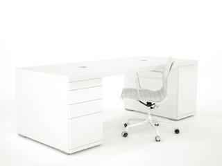 hoogglans wit bureau Clean Desk:   door Studio Edwin de Kuiper